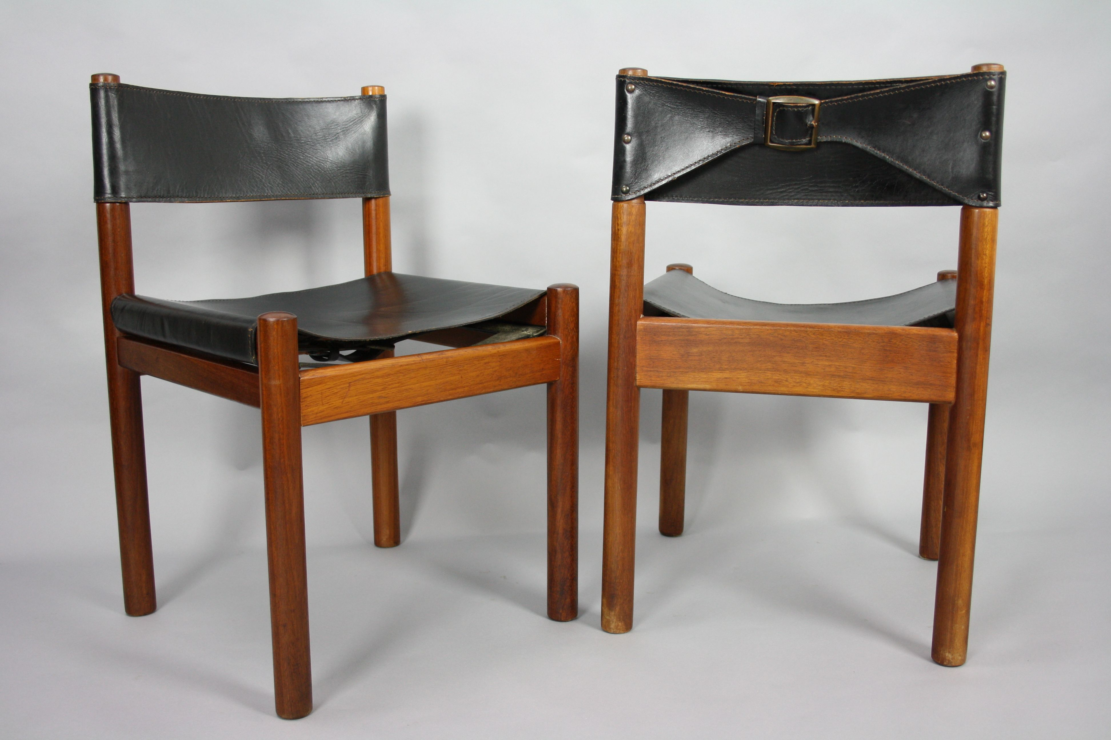 Mid Century Mary Featherston Moderntone Chairs Leather Sling