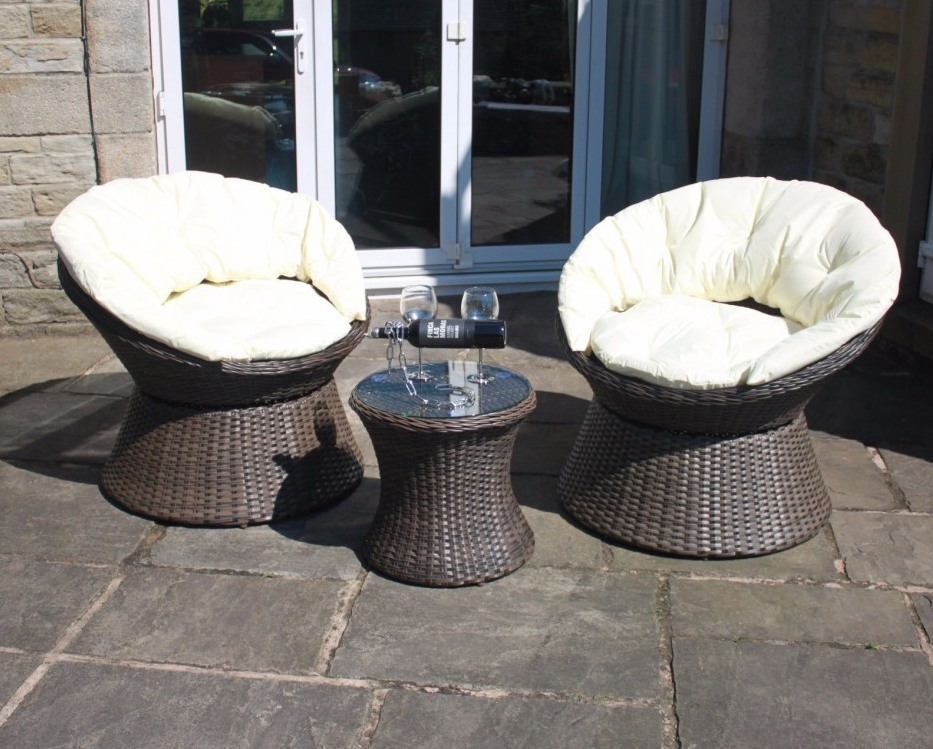 rattan garden chairs only uk pedicure modern grey or brown swivel bistro 2 seat set from