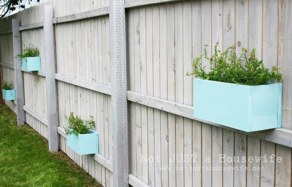Planter Boxes On The Fence Hmm Lavender Lemon Grass Basil Other