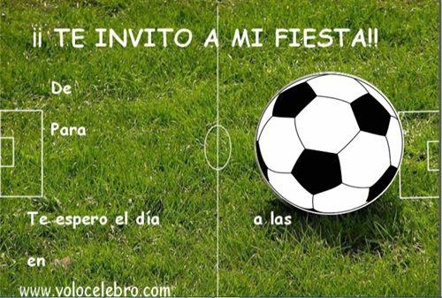 Invitaciones Cumpleaños Futbol Gratis Invitaciones De
