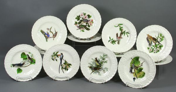 Alfred Meakin \ Audubon Birds of America\  This set of 8 each feature a different Audubon illustration. I mix and match with celadon-colored appetizer plates ... & I sold this set of Alfred Meakin \