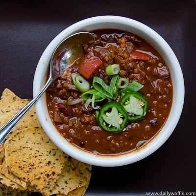 #MeatlessMonday: Chunky Vegetarian #Chili