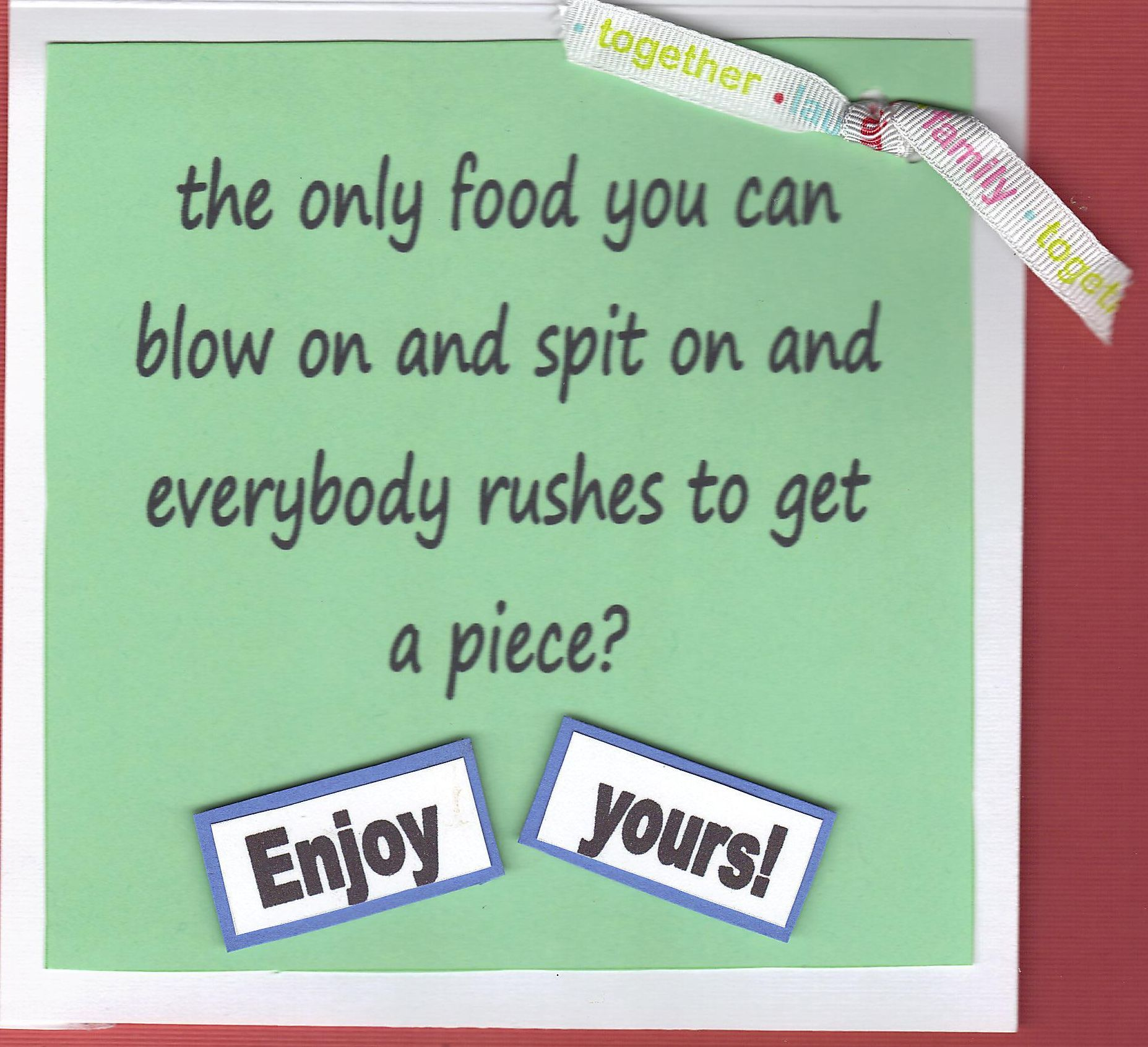 Inside Birthday Joke Card 2010