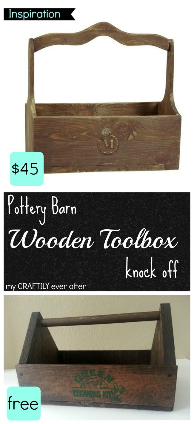 Wooden Toolbox - Pottery Barn Knock Off and Gift | Pottery barn. Wooden. Wooden tool boxes