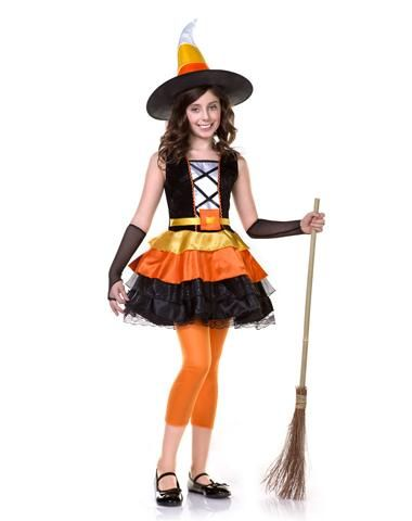 Candy Corn Witch Girls Costume  sc 1 st  Pinterest & Candy Corn Witch Girls Costume | Halloween costumes | Pinterest ...