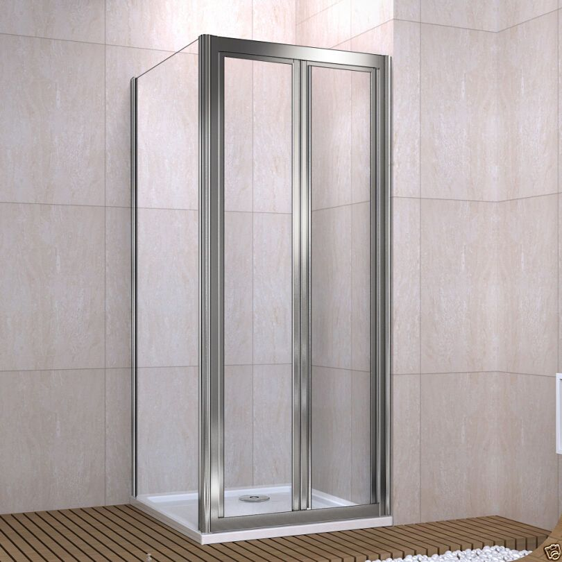 Pivot Shower Enclosure Double Door Cubicle Glass Screen Side Panel ...