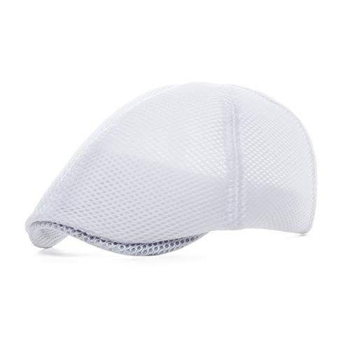 84110d307fb  11.99 VOBOOM Men Breathable mesh Summer Hat Newsboy Beret Ivy Cap Cabbie  Flat Cap
