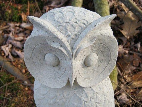Captivating Owl Statue, Concrete Wise Old Owl Figure, Cement Garden Decor
