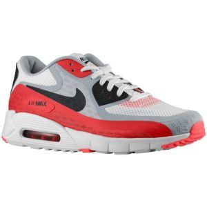 new products 2a1de 7f953 Nike Air Max 90 Breeze - Men's - White/Black/Wolf Grey/University Red