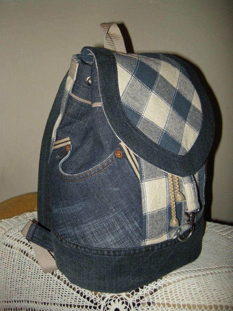 Фото рюкзаков из джинса своими руками сшить