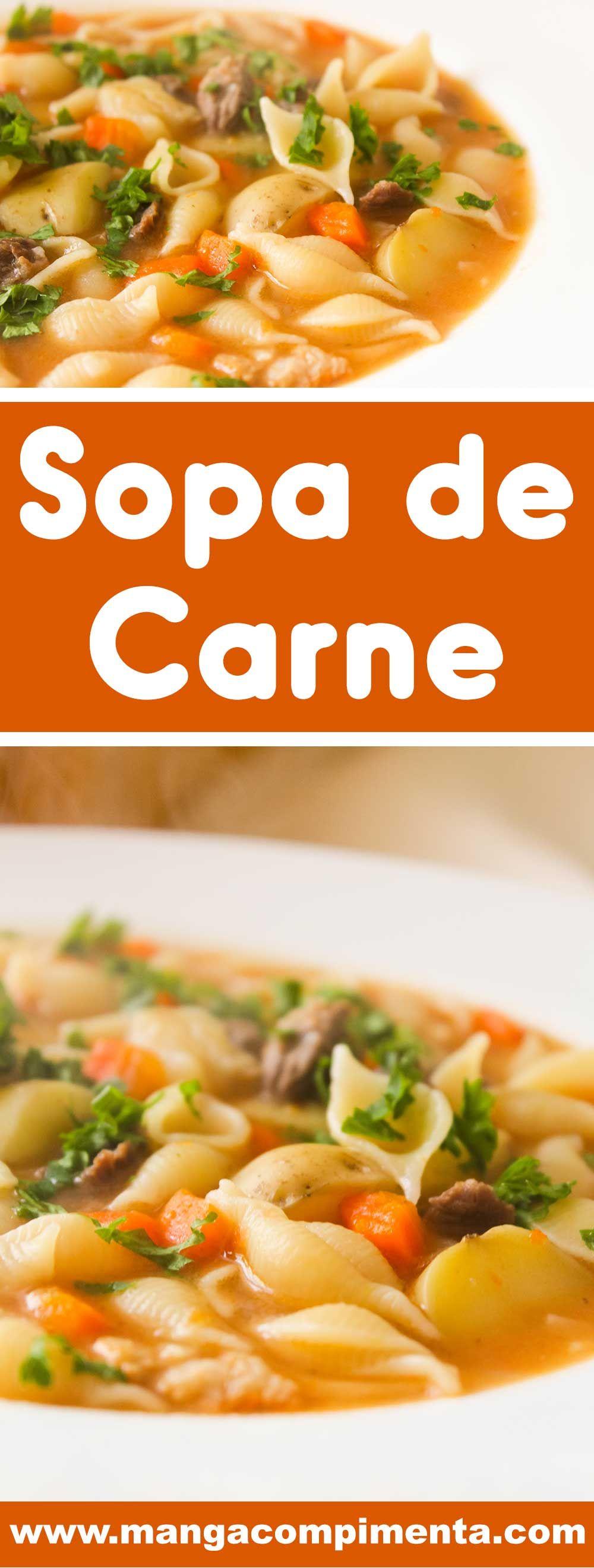 Photo of Sopa de Carne para os dias frios! – Manga com Pimenta