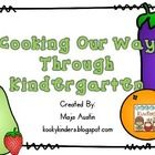 FREE!  Cooking Our Way Through Kindergarten.  These pages can be used to create a class book or individual student books. In my classroom we have Foodie Friday where we make a delicious thematic snack and then write about it. I have included a color and black and white cover page.