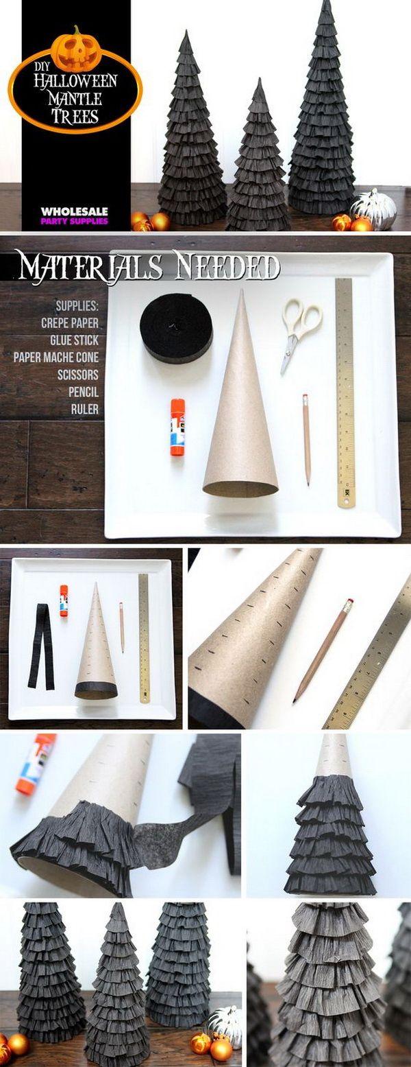 30+ Homemade Halloween Decoration Ideas | Pinterest | Crepe paper ...