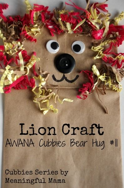Lion Puppet Paper Bag Craft for Daniel and the Lion's Den | Kid