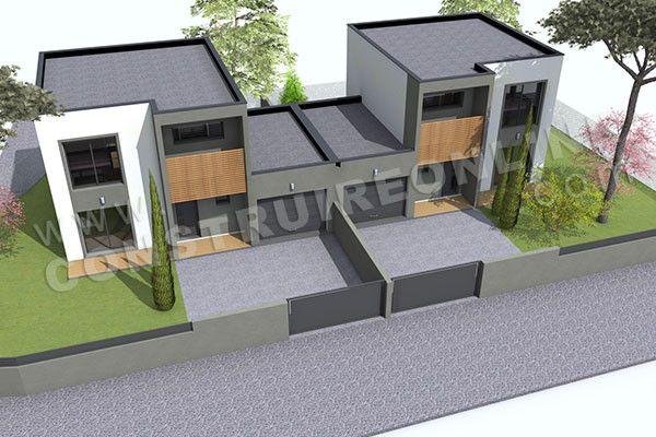 תוצאת תמונה עבור maison jumelé plan House plans Pinterest