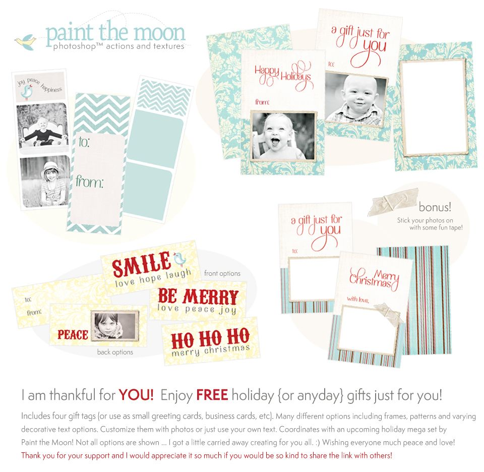 free holiday card templates for photoshop