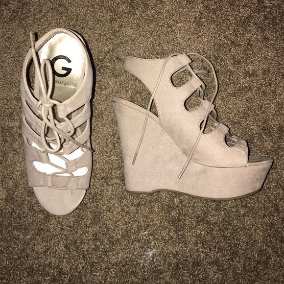 Guess Heels Worn once Guess Shoes Wedges