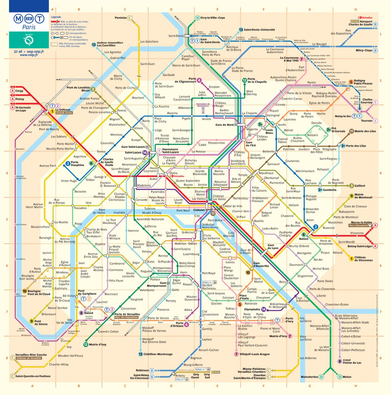 Official Map: Paris Metro/RER/Tram Map If you visit Paris, you
