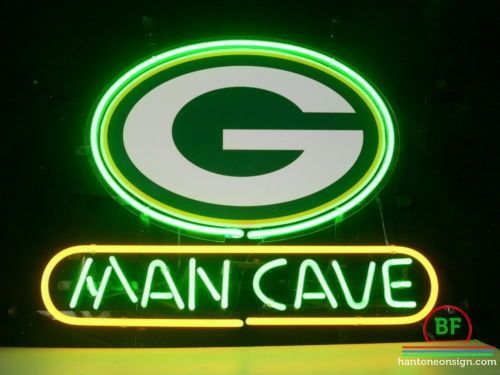 Man Cave Green Bay Packers Neon Sign NFL Teams Neon Light Great Pictures