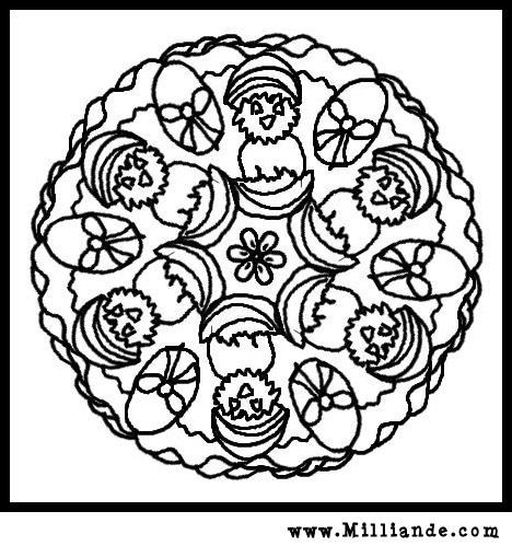 Free printable mandala coloring pages easter basket easter bunnies free printable mandala coloring page