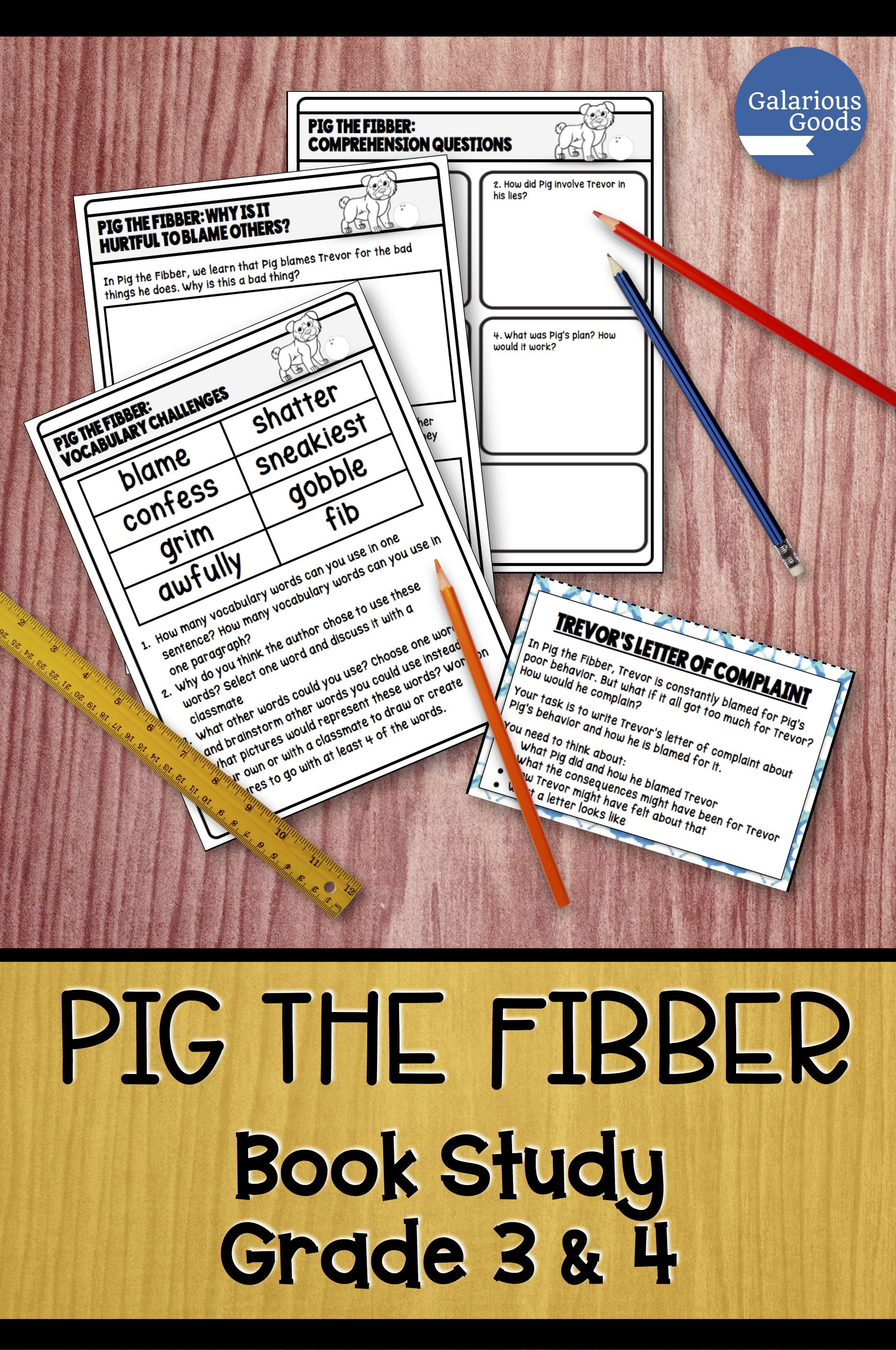 Comprehension discussion year 3 reading comprehension discussion questions array pig the fibber by aaron blabey picture book study pinterest rh pinterest com fandeluxe Image collections
