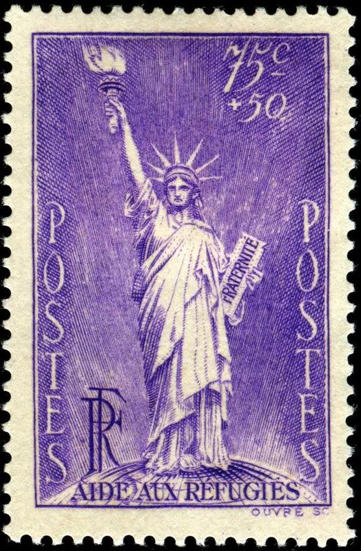1936 French Stamp Depicting The Statue Of Liberty Which Was Given To US By France