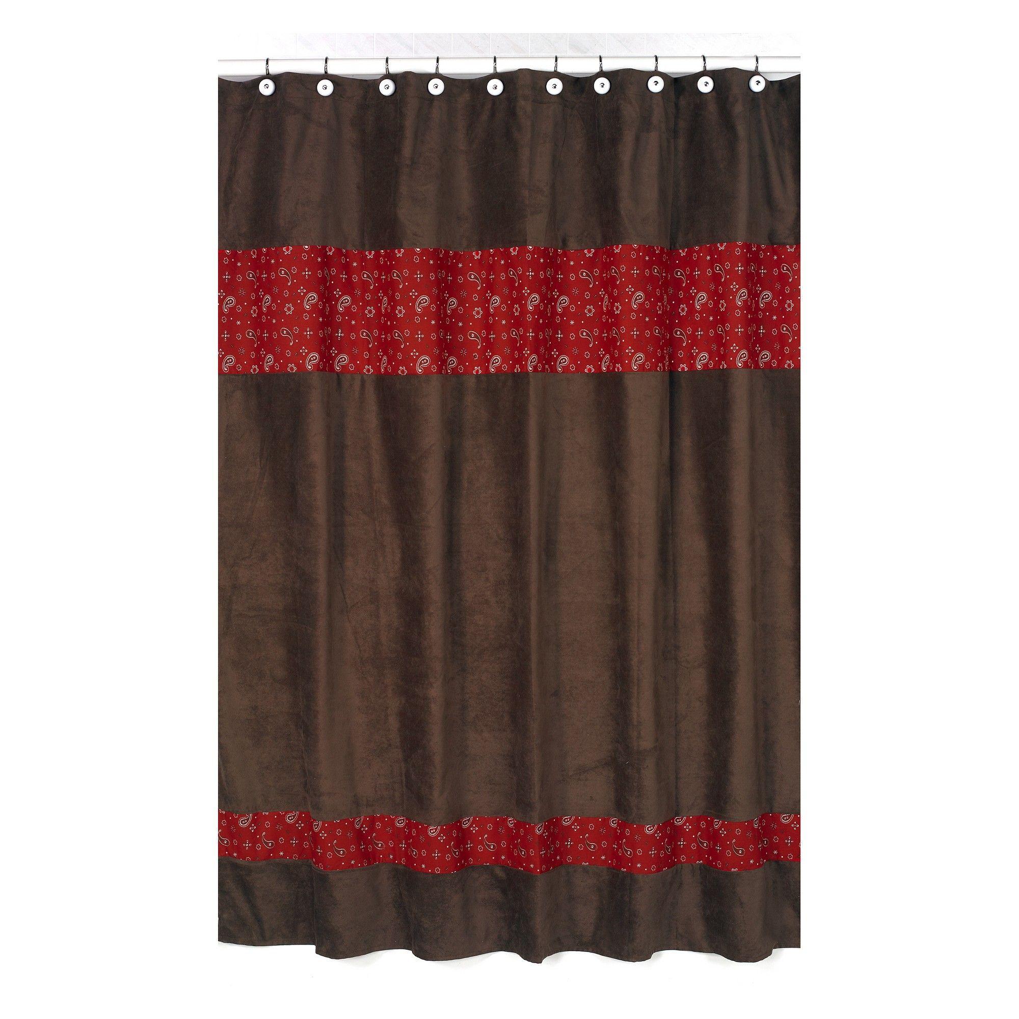 Wild West Shower Curtain Brown Red Sweet Jojo Designs