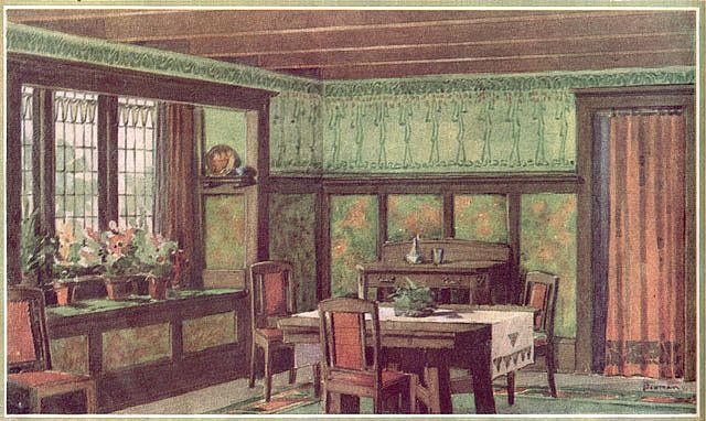 1910 Sherwin Williams Paint Ad Arts And Crafts Interiors