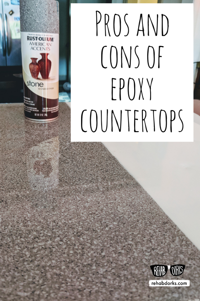 Spray Painted Epoxy Resin Countertops