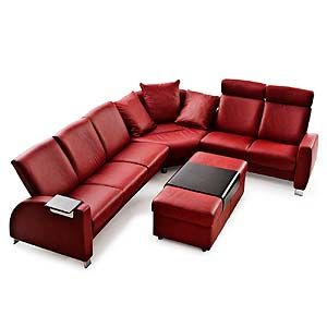 Sleek Modern Reclining Sectional And It S Red