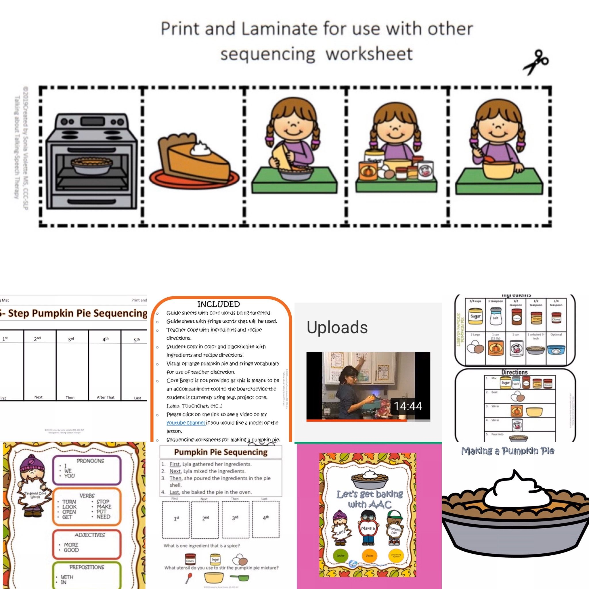 Aac Let S Make A Pumpkin Pie Visual Recipe