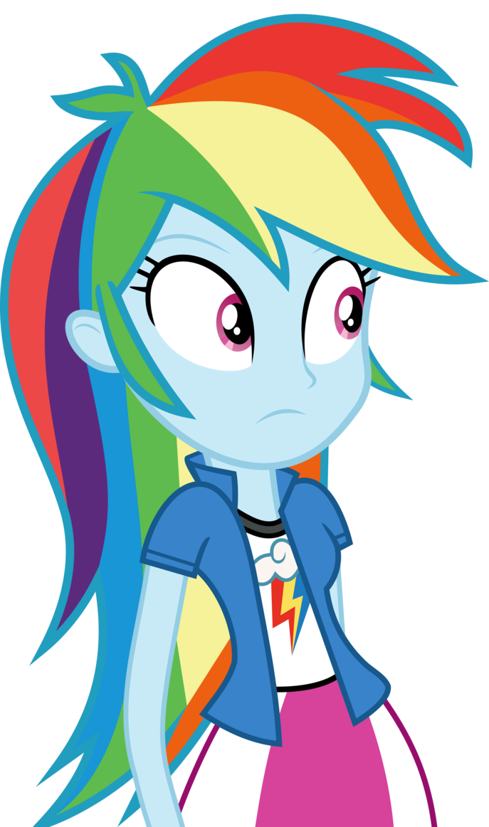 Mlp Eqg 3 Rainbow Dash 2 Vector By Luckreza8