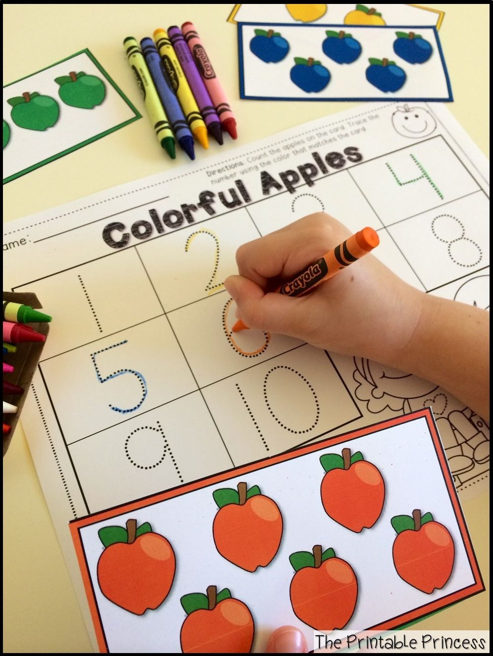 Apple Centers for Kindergarten {Fall theme}   Preescolar, Números y ...