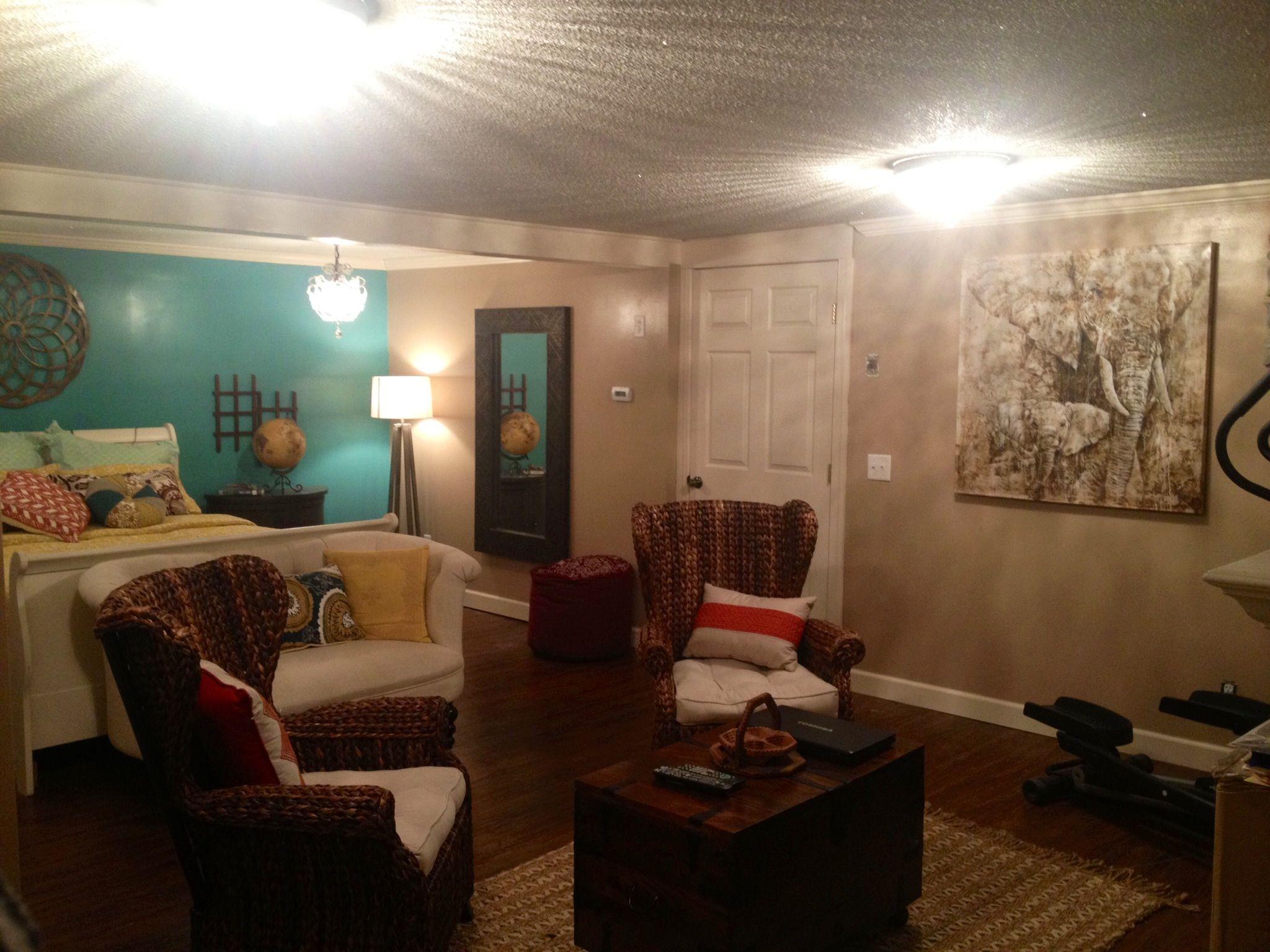 basement teen room   My Girls - Teen bedrooms   Pinterest ... on Teenager Basement Bedroom  id=15817