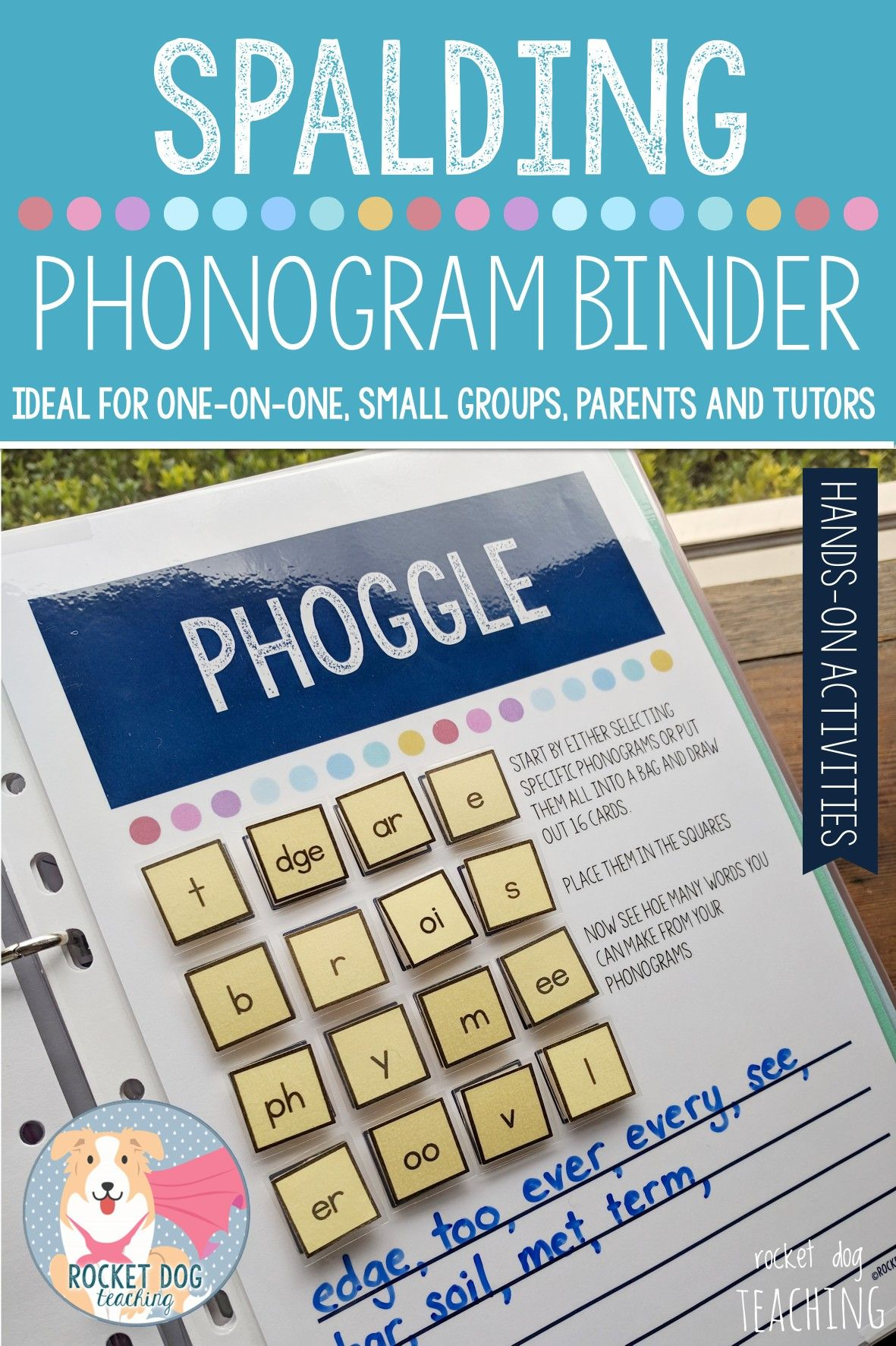 Phonogram Activity Binder For One On One Small Groups