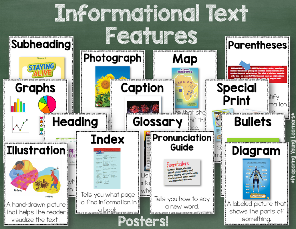 Informational Text Feature Posters And Blog Post