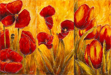 Faux vitrail paysage recherche google artisans du vitrail pinterest - Modele peinture acrylique debutant ...