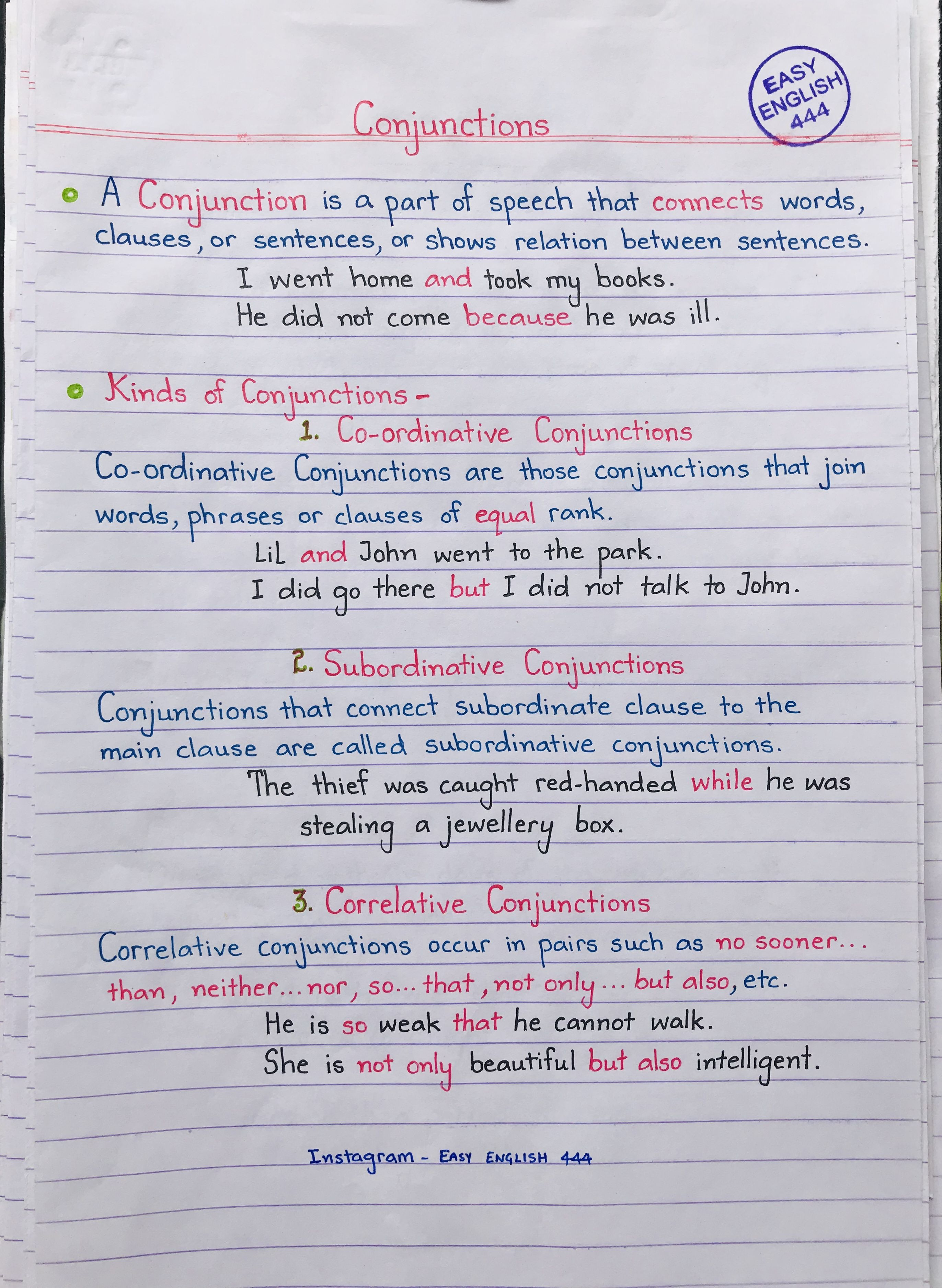 Learn English Grammar Handwritten With Images