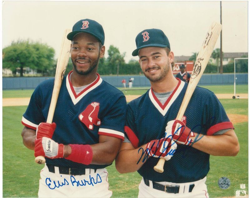 Ellis Burks And Mike Greenwell Boston Red Sox Dual