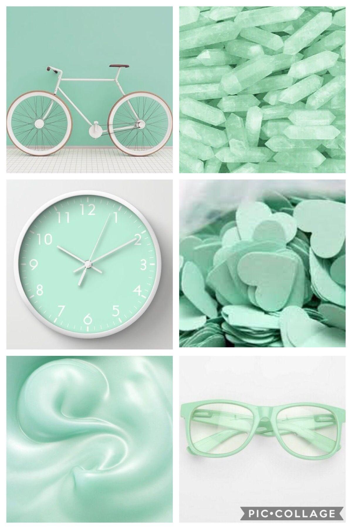 Aesthetic Pastel Green Wallpaper
