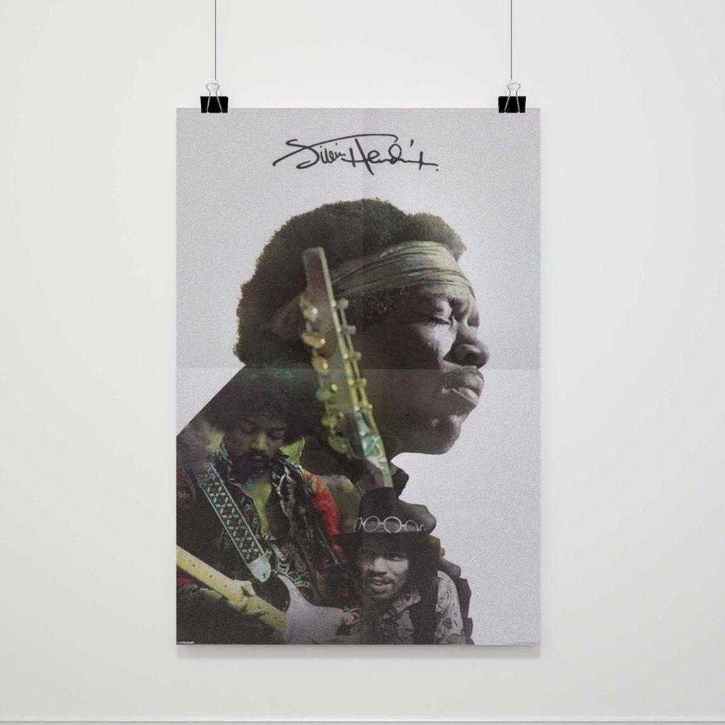 Jimi Hendrix Triple Portrait Poster Poster Jimi Hendrix Portrait [ 1024 x 1024 Pixel ]