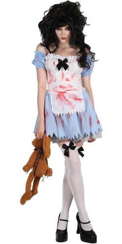 Plus Halloween Costumes Size 24.Zombie Alice Xl 22 24 Plus Size Fairytale Halloween Fancy Dress Ladies Costume Ebay Halloween Fancy Dress Costumes For Women Terrifying Halloween Costumes