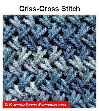 Knitting Stitch Patterns Criss Cross Stitch Using Twist Stitch