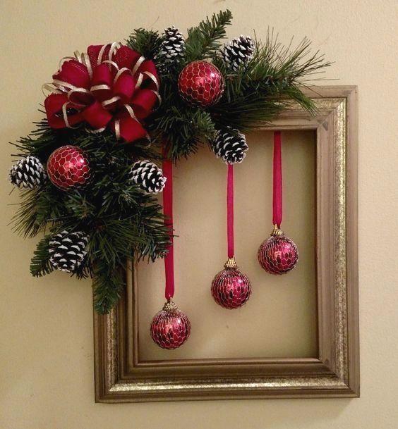 Christmas Wreath Decoration Ideas #decorationnoel