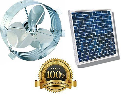 Solar Gable Attic Fan Brushless Dc Motor 10 Year Guarantee High Efficiency Blades Galvanized Steel Rust Prevention B Galvanized Steel Attic Fan Solar Fan