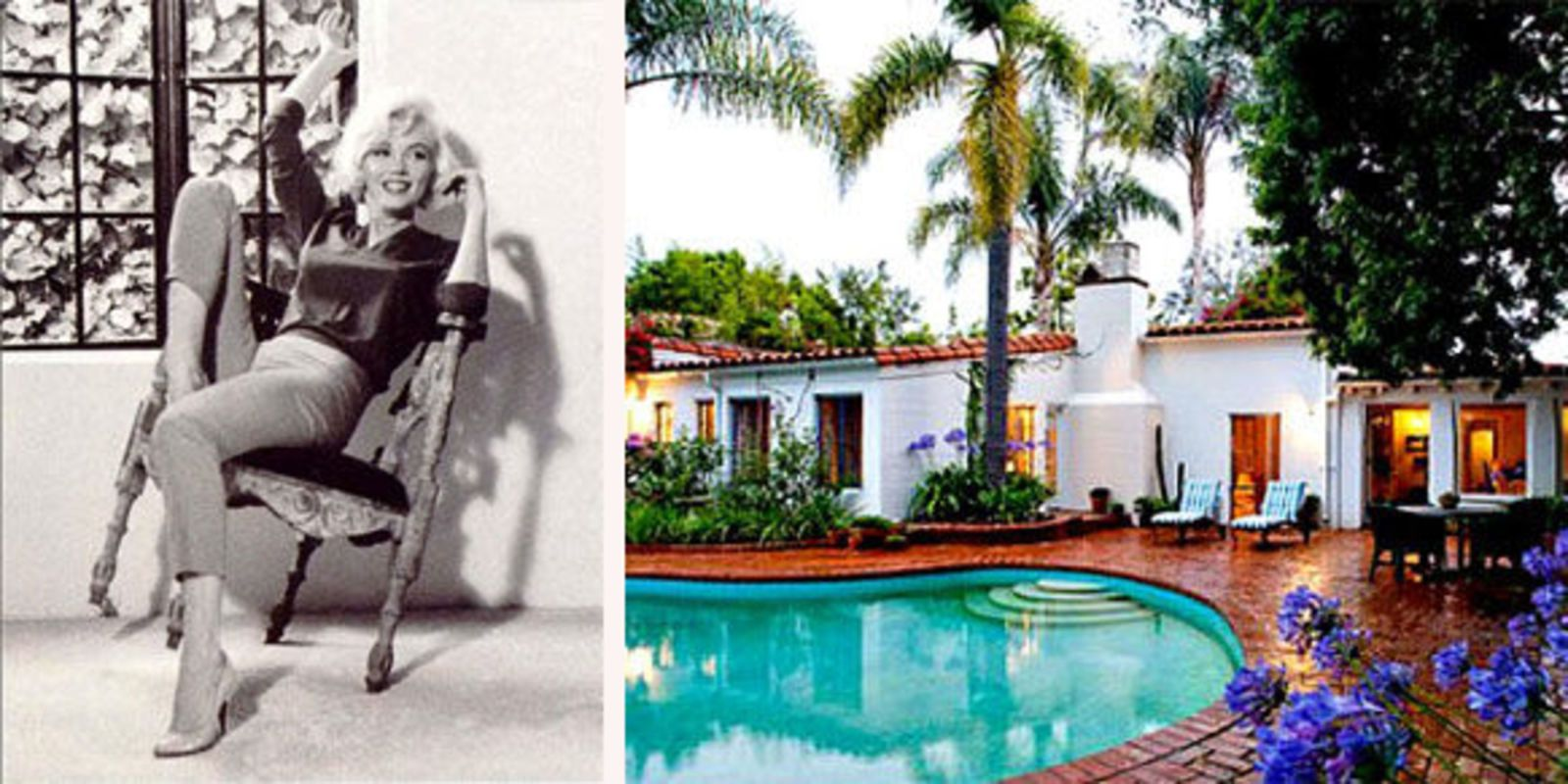 Old Hollywood Homes Inside Marilyn Monroe's Brentwood Home  Celebs