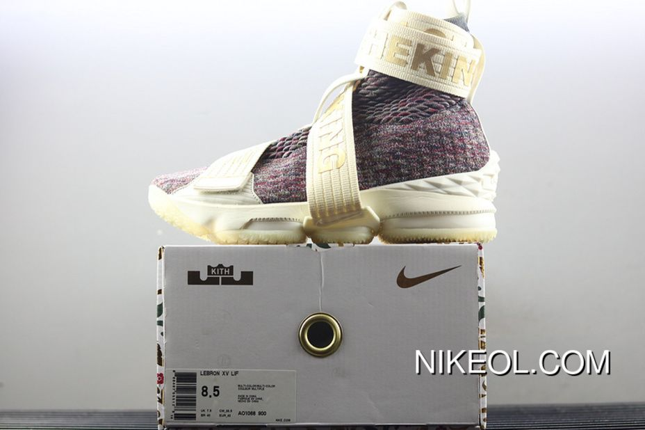 on sale a2cca 88f14 Nike LeBron Xv Lif Kith Stained Glass James 15 Collaboration ...