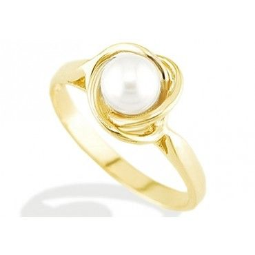 gold ring with pearl - Google Search