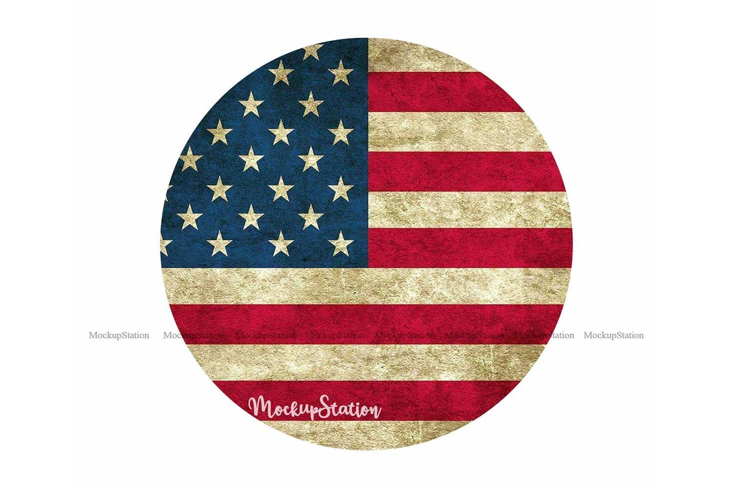Usa Flag Sublimation Wood Background Png 4th Of July Circle By Mockupstation Thehungryjpeg Com Wood Wood Background Material Design Background Flag Design