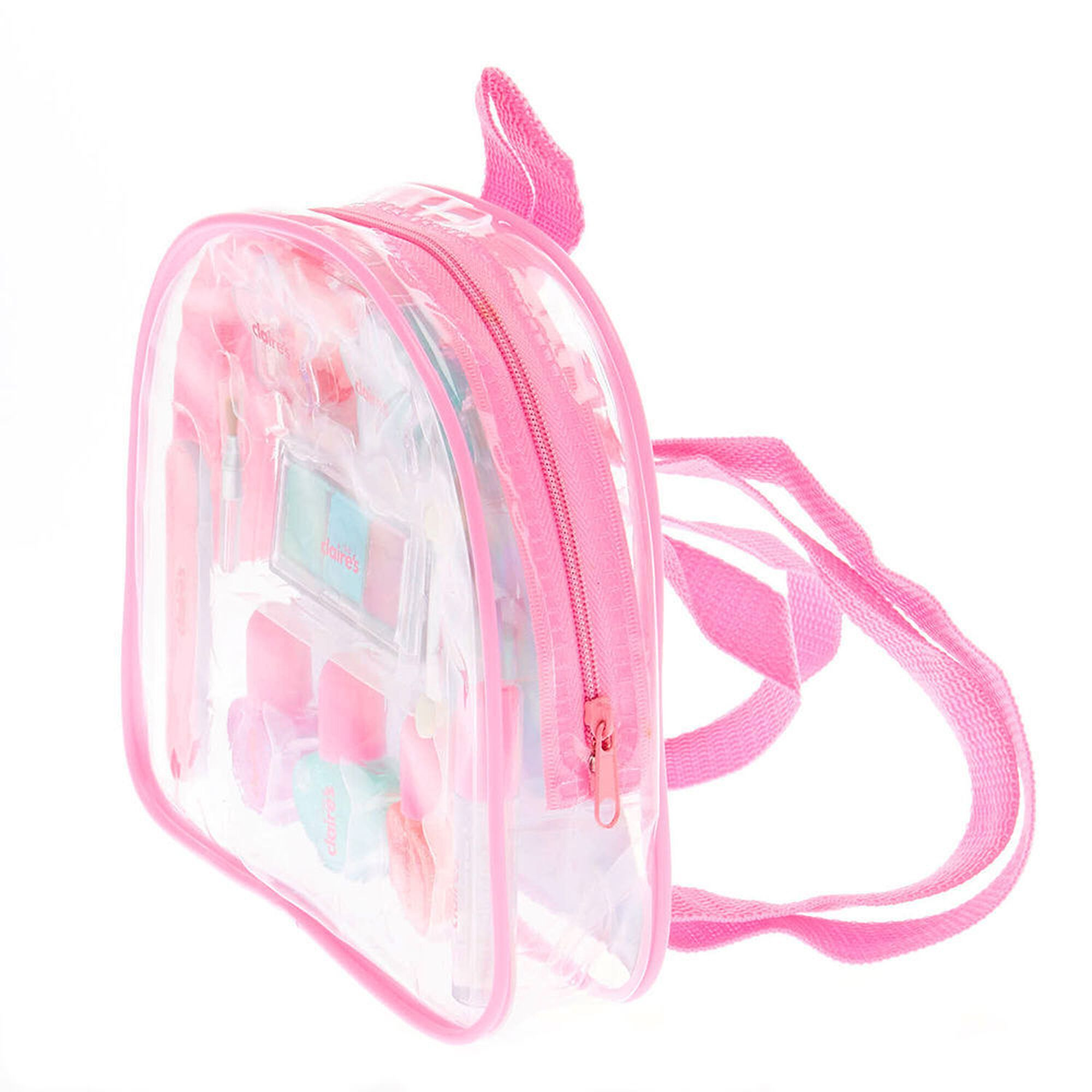 Claire's Club Pastel Glitter Backpack Makeup Set Fashion